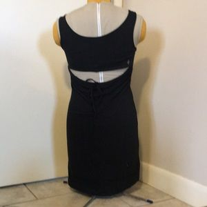 Volcom black bodycon dress with open back